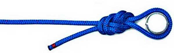 Фиксация предмета с помощью узла восьмерка